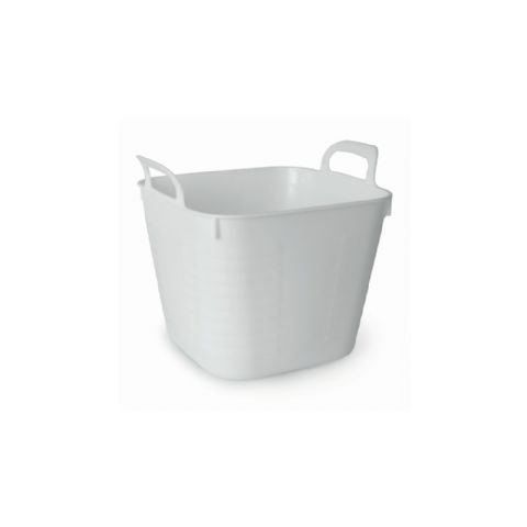 Bathroom Bath Side Storage Tub White